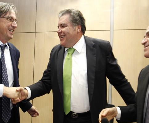 Sarney Filho, Dirk (E) e Almino (D): sustentabilidade (Foto de Jorge Cardoso/MMA)